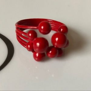 """Jewelry - Red """"bubble"""" ring"""
